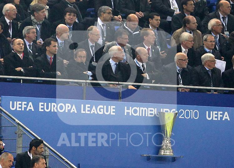 VIP Tribune during UEFA Europa League final match, May 12, 2010. (ALTERPHOTOS/Alvaro Hernandez).