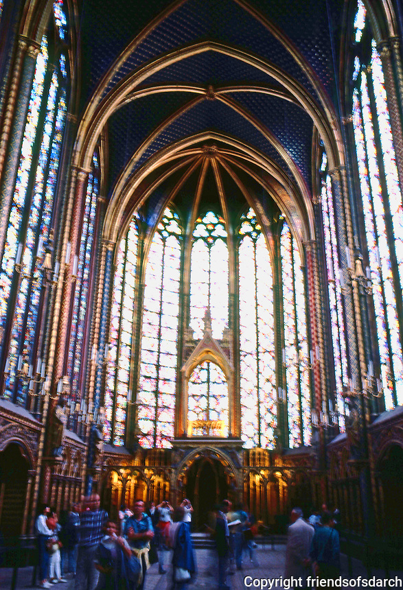 Paris: Sainte-Chapelle--interior. Photo '87.