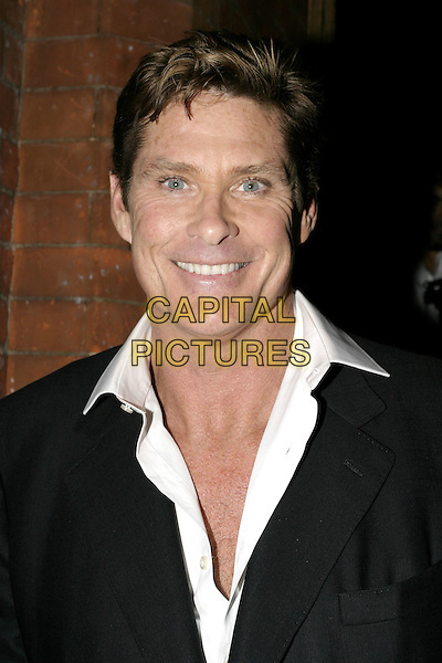 DAVID HASSELHOFF.Woman In White Press Night, Palace Theatre, Shaftesbury Avenue, London.September 15th, 2004.headshot, portrait.www.capitalpictures.com.sales@capitalpictures.com.© Capital Pictures.