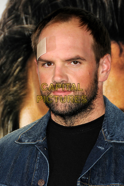 "ETHAN SUPLEE .""Due Date"" Los Angeles Premiere held at Grauman's Chinese Theatre, Hollywood, California, USA,.28th October 2010..portrait headshot  Plaster head forehead injury beard facial hair denim black.CAP/ADM/BP.©Byron Purvis/AdMedia/Capital Pictures."