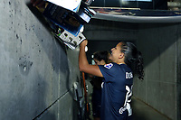 Cary, North Carolina  - Saturday June 17, 2017: Debinha signs autographs after a regular season National Women's Soccer League (NWSL) match between the North Carolina Courage and the Boston Breakers at Sahlen's Stadium at WakeMed Soccer Park. The Courage won the game 3-1.