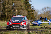 10th February 2019, Galway, Ireland; Galway International Rally; Jon Armstrong and Noel O'Sullivan finish in 4th place overall in their Dirt 2.0 sponsored Ford Fiesta R5