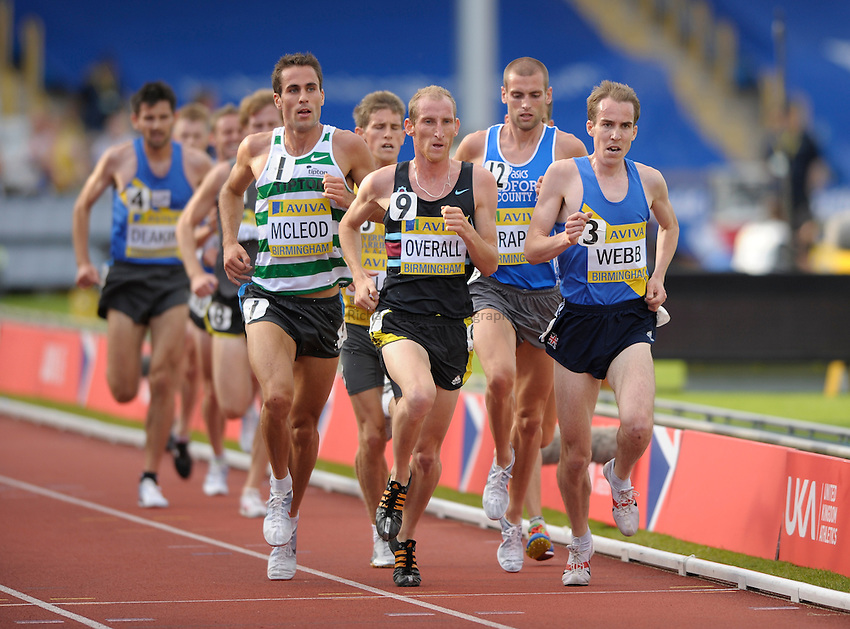 Photo: Ady Kerry/Richard Lane Photography..Aviva World Trials & UK Championships athletics. 12/07/2009. .Scott Overall leads the 5000m final.