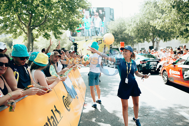 The publicity caravan passes by before the race Stage 16 of the 2019 Tour de France running 177km from Nimes to Nimes, France. 23rd July 2019.<br /> Picture: ASO/Thomas Maheux | Cyclefile<br /> All photos usage must carry mandatory copyright credit (© Cyclefile | ASO/Thomas Maheux)