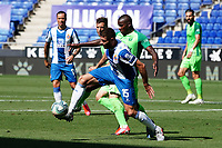5th July 2020; RCDE Stadium, Barcelona, Catalonia, Spain; La Liga Football, Real Club Deportiu Espanyol de Barcelona versus Leganes; David Lopez holds off the challenge from Amadou