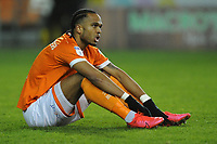 Blackpool's Nathan Delfouneso looks dejected at full time<br /> <br /> Photographer Kevin Barnes/CameraSport<br /> <br /> The EFL Sky Bet League One - Blackpool v Gillingham - Tuesday 11th February 2020 - Bloomfield Road - Blackpool<br /> <br /> World Copyright © 2020 CameraSport. All rights reserved. 43 Linden Ave. Countesthorpe. Leicester. England. LE8 5PG - Tel: +44 (0) 116 277 4147 - admin@camerasport.com - www.camerasport.com