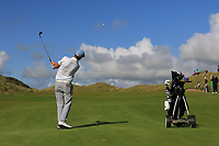 Robert Brazill (Naas) on the 18th fairway during the Final of the AIG Irish Amateur Close Championship 2019 in Ballybunion Golf Club, Ballybunion, Co. Kerry on Wednesday 7th August 2019.<br /> <br /> Picture:  Thos Caffrey / www.golffile.ie<br /> <br /> All photos usage must carry mandatory copyright credit (© Golffile | Thos Caffrey)