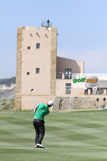 Thorbjorn Olesen (DEN) on the 9th on Day 4 of the 2012 Sicilian Open at Verdura Golf and Spa Resort, Sicily, Italy...(Photo Jenny Matthews/www.golffile.ie)