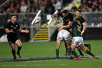 Sonny Bill Williams passes to Ryan Crotty during the Rugby Championship match between the New Zealand All Blacks and South Africa Springboks at QBE Stadium in Albany, Auckland, New Zealand on Saturday, 16 September 2017. Photo: Shane Wenzlick / lintottphoto.co.nz