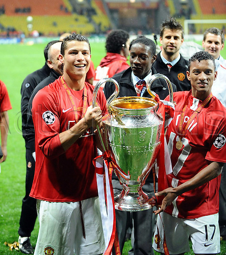 21.05.2008  Cristiano Ronaldo and Nani (Manchester United) Champions League  2007/2008;