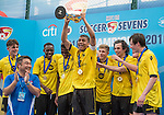 Aston Villa are the Cup Final Winners of the Main tournament of the Aston Villa are the Cup Final Winners of the Main tournament of the HKFC Citi Soccer Sevens on 22 May 2016 in the Hong Kong Footbal Club, Hong Kong, China. Photo by Li Man Yuen / Power Sport Images