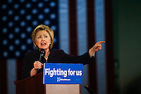 BLACKWOOD, NJ - MAY 11 : U.S. Democratic presidential candidate Hillary Clinton speaks to supporters during a rally on May 11, 2016 in Blackwood, New Jersey. Hillary Clinton will clinch the party's nomination after votes come in June 7. Photo by VIEWpress