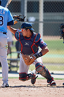Minnesota Twins David Banuelos (2) during a Minor League Spring Training game against the Tampa Bay Rays on March 17, 2018 at CenturyLink Sports Complex in Fort Myers, Florida.  (Mike Janes/Four Seam Images)