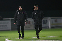 Romford manager Paul Martin and Jamie Stuart manager of Grays during Grays Athletic vs Romford, Bostik League Division 1 North Football at Parkside on 1st January 2018