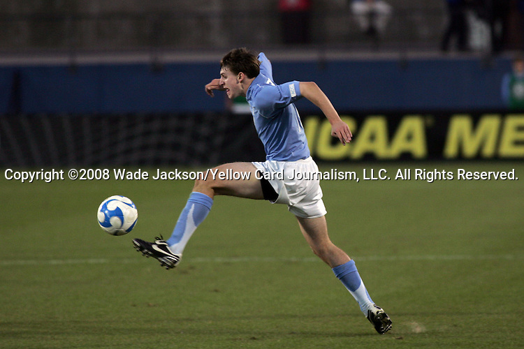 12 December 2008: Billy Schuler (10) of North Carolina.  The Wake Forest University Demon Deacons were defeated by the University of North Carolina Tar Heels 0-1 at Pizza Hut Park in Frisco, TX in an NCAA Division I Men's College Cup semifinal game.