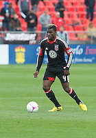 06 October 2012: D.C. United defender/midfielder Brandon McDonald #4 in action during an MLS game between D.C. United and Toronto FC at BMO Field in Toronto, Ontario..D.C. United won 1-0..