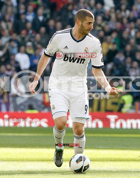 Real Madrid's Karim Benzema during La Liga match.March 02,2013. (ALTERPHOTOS/Acero) /NortePhoto