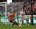John Lundstram of Sheffield Utd and Conor Coady of Wolverhampton Wanderers  during the Premier League match at Molineux, Wolverhampton. Picture date: 1st December 2019. Picture credit should read: Simon Bellis/Sportimage