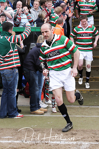 21.04.2013 Rugby Union, Leicester, England.   Paul Gustard in action during the Charity match between a Tigers Legends XV and an International Legends XV, from Welford Road.  Match proceeds are going to the Louis Deacon Benefit and the Matt Hampson Foundation. Attendance 16500