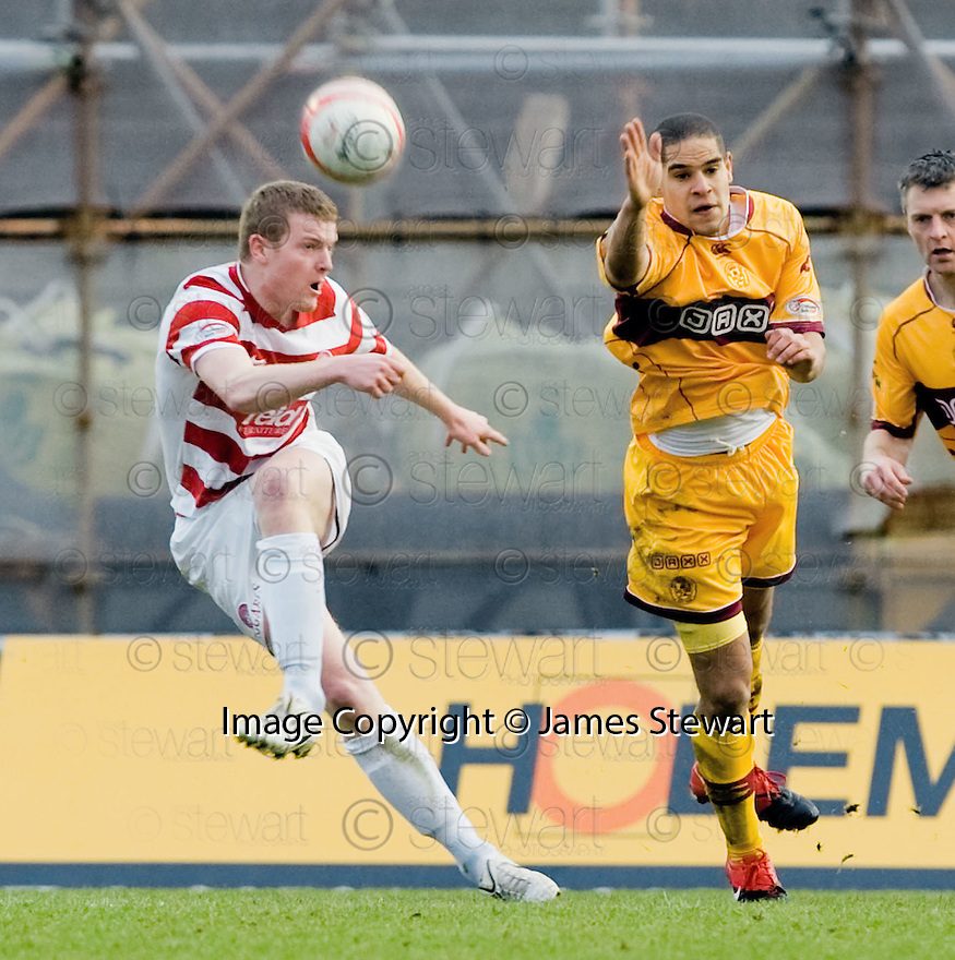 14/02/2010  Copyright  Pic : James Stewart.sct_jspa20_hamilton_v_motherwell  .::  MOTHERWELL'S  BRIAN EASTON::.James Stewart Photography 19 Carronlea Drive, Falkirk. FK2 8DN      Vat Reg No. 607 6932 25.Telephone      : +44 (0)1324 570291 .Mobile              : +44 (0)7721 416997.E-mail  :  jim@jspa.co.uk.If you require further information then contact Jim Stewart on any of the numbers above.........
