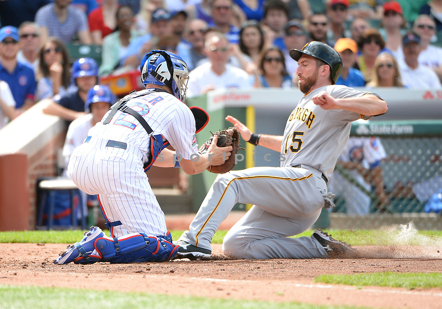 Pittsburgh Pirates Ike Davis (15) during a game against the Chicago Cubs on June 20, 2014 at Wrigley Field in Chicago, IL. The Cubs beat the Pirates 6-3.