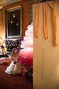 04/11/16<br /> <br /> Commission Mcc0073519 Assigned<br /> <br /> Daisy Edwards (19) sat by a tutu Christmas tree with a model of the Nutcracker Prince.<br /> <br /> Ballerinas pose for photographs in the Painted Hall at Chatsworth House to mark the start of the stately home's Christmas themed  &lsquo;The Nutcracker&rsquo;. Join Clara's adventures as she is swept away by her Nutcracker Prince until Jan 3 2017.<br /> <br /> All Rights Reserved F Stop Press Ltd. (0)1773 550665   www.fstoppress.com