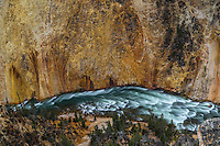 The Yellowstone River winds its way through the Grand Canyon Of The Yellowstone