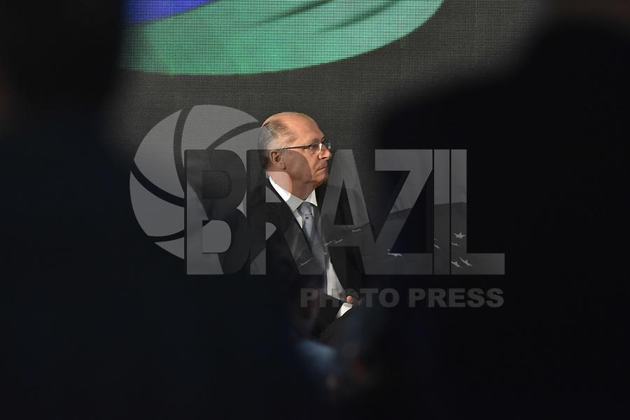 BRASÍLIA, DF, 26.04.2017 – ALCKMIN-DF – O governador de São Paulo Geraldo Alckmin durante abertura do IV Encontro dos Municípios com o Desenvolvimento Sustentável, organizado pela Frente Nacional de Prefeitos,  na manhã desta quarta-feira, 26, no Estádio Nacional Mané Garrincha.(Foto: Ricardo Botelho/Brazil Photo Press)
