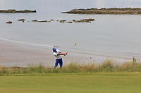 Rickie Fowler (USA) in the rough on the 4th during Round 1 of the Aberdeen Standard Investments Scottish Open 2019 at The Renaissance Club, North Berwick, Scotland on Thursday 11th July 2019.<br /> Picture:  Thos Caffrey / Golffile<br /> <br /> All photos usage must carry mandatory copyright credit (© Golffile | Thos Caffrey)