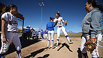 Western's Madi Gonzalez gets introduced at the beginning of a doubleheader against Colorado Northwestern Community College at Edmonds Sports Complex in Carson City,Nev., on Friday, Feb. 21, 2014.<br /> Photo by Cathleen Allison/Nevada Photo Source