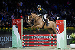 Yu An Su of Hong Kong riding Chardonay Hara Des Barrages competes in the HKJC Junior Trophy during the Longines Masters of Hong Kong at AsiaWorld-Expo on 11 February 2018, in Hong Kong, Hong Kong. Photo by Ian Walton / Power Sport Images
