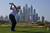 Ernie Els (RSA) on the 8th tee during Round 3 of the Omega Dubai Desert Classic, Emirates Golf Club, Dubai,  United Arab Emirates. 26/01/2019<br /> Picture: Golffile | Thos Caffrey<br /> <br /> <br /> All photo usage must carry mandatory copyright credit (© Golffile | Thos Caffrey)
