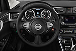 Car pictures of steering wheel view of a 2016 Nissan Sentra SR 4 Door Sedan Steering Wheel