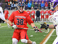No. 2 ranked Albany defeats unseeded Richmond 18-9 in an NCAA opening round game on May 12, 2018 at Casey Stadium in Albany, New York.  (Bob Mayberger/Eclipse Sportswire)