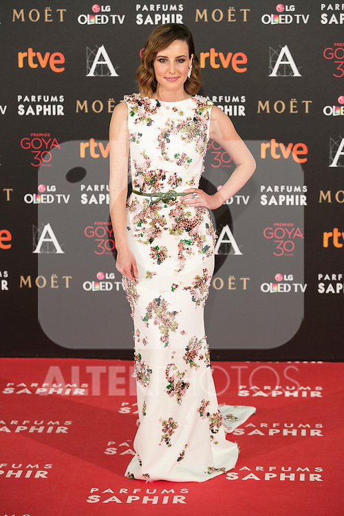 Actress Natalia de Molina attends 30th Goya Awards red carpet in Madrid, Spain. February 06, 2016. (ALTERPHOTOS/Victor Blanco)