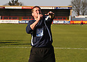 Stevenage manager Graham Westley addresses the fans as he celebrates promotion after the Blue Square Premier match between Kidderminster Harriers and Stevenage Borough at the Aggborough Stadium, Kidderminster on Saturday 17th April, 2010..© Kevin Coleman 2010