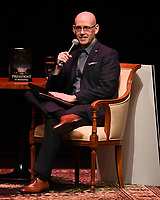 FORT LAUDERDALE FL - JUNE 12: Brad Meltzer speaks during 'The President is Missing' book tour at The Broward Center on June 12, 2018 in Fort Lauderdale, Florida. Credit mpi04/MediaPunch