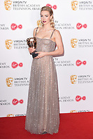 Vanessa Kirby in the winners room for the BAFTA TV Awards 2018 at the Royal Festival Hall, London, UK. <br /> 13 May  2018<br /> Picture: Steve Vas/Featureflash/SilverHub 0208 004 5359 sales@silverhubmedia.com