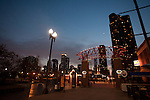 Navy Pier looking toward the city skyline, Chicago, IL, USA
