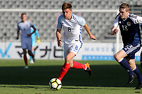 Harvey Barnes of England races upfield during England Under-18 vs Scotland Under-20, Toulon Tournament Semi-Final Football at Stade Parsemain on 8th June 2017