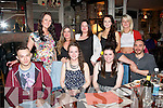 Staff from O'Donnells of Mounthawk,Tralee dined in the Stonehouse,Tralee last Monday night to wind down with some fine food and wine,present were(seated)L-R Lenur Fazilov,Sarah Brosnan,Lorna Sheehan&Krzys Sokolowski(back)L-R Catriona Harrington,Emma Clarke,Aimee Auchincloss,Katie Daly with Niamh Carmody.