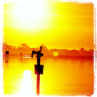 Pelican in a post at sunrise in Ormond Beach, FL, iPhone photo from the instgram photostream of bcpix, Florida-based freelance photographer Brian Cleary. (Photo by Brian Cleary/www.bcpix.com)