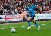 Lewis Coyle of Fleetwood Town during the Sky Bet League 1 match between Northampton Town and Fleetwood Town at Sixfields Stadium, Northampton, England on 12 August 2017. Photo by Alan  Stanford / PRiME Media Images.