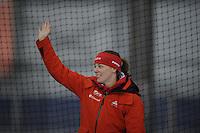 SCHAATSEN: GRONINGEN: Sportcentrum Kardinge, 03-02-2013, Seizoen 2012-2013, Gruno Bokaal, podium 1500m Dames, Marije Joling, ©foto Martin de Jong