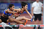 Hitomi Shimura (JPN), <br /> AUGUST 25, 2018 - Athletics : Women's 100mH Qualification at Gelora Bung Karno Main Stadium during the 2018 Jakarta Palembang Asian Games in Jakarta, Indonesia. <br /> (Photo by MATSUO.K/AFLO SPORT)