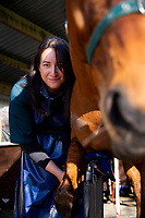 SWVS Equine Technician Ariana Rose Kohu at Opaki Racetrack in Masterton, New Zealand on Friday, 10 August 2018. Photo: Dave Lintott / lintottphoto.co.nz