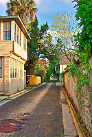 A photograph of Aviles Street the oldest platted street in the United States. Aviles Street was named after the hometown of St. Augustine's founder Aviles, Spain
