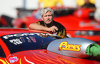 Sept. 29, 2012; Madison, IL, USA: NHRA pro stock driver John Gaydosh during qualifying for the Midwest Nationals at Gateway Motorsports Park. Mandatory Credit: Mark J. Rebilas-