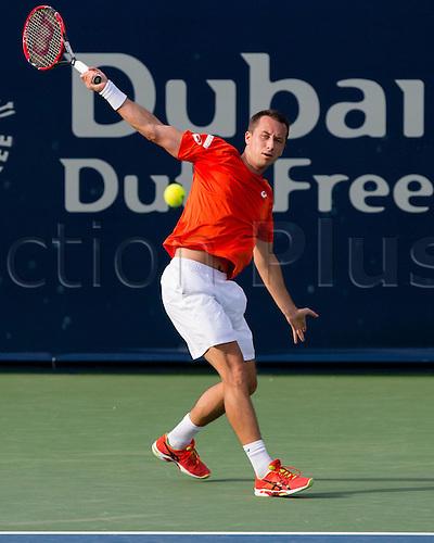 23.02.2016. Dubai UAE.  Philipp Kohlschreiber (GER) at the Dubai Duty Free Tennis Championships Dubai, United Arab Emirates - 23 February 2016.
