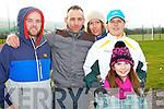Aidan O'Shea, Oliver Coffey, Jill Harrington, Caroline Harrington and Jessica Harrington (all Tralee) pictured at the McGrath Cup semi-final Kerry v CIT on Sunday.